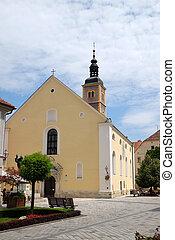 Saint John the Baptist church in Varazdin, Croatia