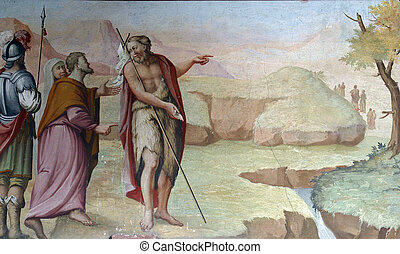 Saint John the Baptist, fresco paintings in the church