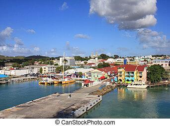 Saint John's in Antigua island