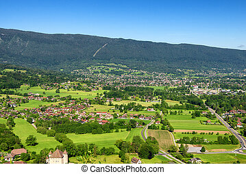 Saint Jorioz village near from the Annecy lake in the french alps