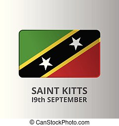 Saint Kitts 19th September Independence Day lettering