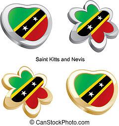 saint kitts and nevis flag heart