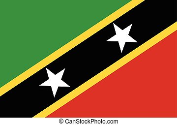 Saint Kitts and Nevis Flag. Vector Format