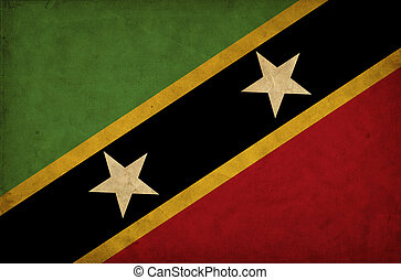 Saint Kitts and Nevis grunge flag