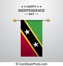 Saint Kitts and Nevis Independence day hanging flag background