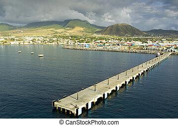 saint kitts and Nevis - Zante pier at Saint kitts...