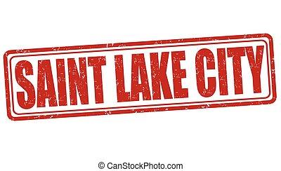 Saint Lake City stamp