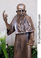 Saint Leopold Mandic statue in St. Leopold Mandic church in ...