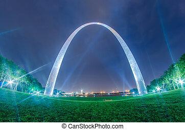 saint louis gateway arch and downtown skyline