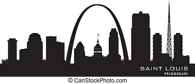 Saint Louis Missouri city skyline vector silhouette - Saint ...