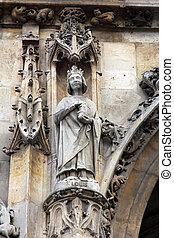 Saint Louis statue, Saint Germain l'Auxerrois church, Paris