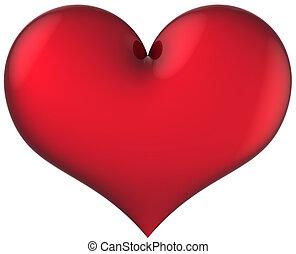 Saint Love - Heart shape total red and shiny. I Love you...