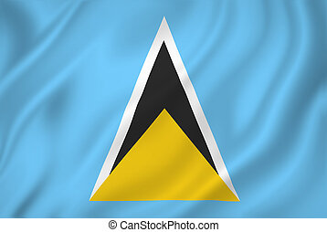 Saint Lucia flag - Saint Lucia national flag background...