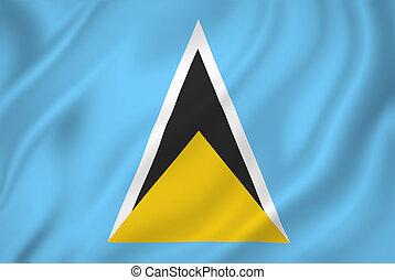 Saint Lucia flag - Saint Lucia national flag background...