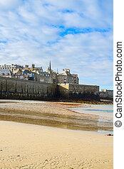 Saint-Malo City Wall , Brittany, France - Saint-Malo City ...