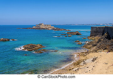 Saint-Malo Fort National in Brittany, France