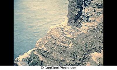 Saint Malo sea aerial view - Aerial view of reef coastline...