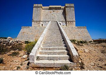 Saint Marija\\\'s Tower - St marija tower on comino island,...