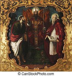 Saint Mark, Saint Jerome and Saint Barthelemy - Saint Mark,...