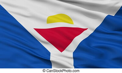 Saint Martin Fictional Flag Closeup Seamless Loop - Saint...