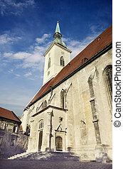 saint, martin's, cathédrale, bratislava, slovaquie