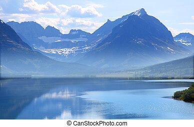 Saint Mary Lake - Saint Mary lake in Glacier natiional park...