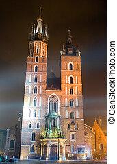 Saint Mary\\\'s church in center of Krakow
