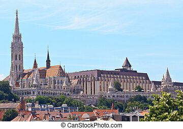 Saint Matthias church and Fisherman Bastion in Budapest, Hungary