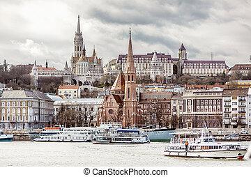 Saint Matthias Church in Budapest - View of Fisherman's...
