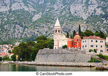 Saint Matthias church in Dobrota town, Montenegro