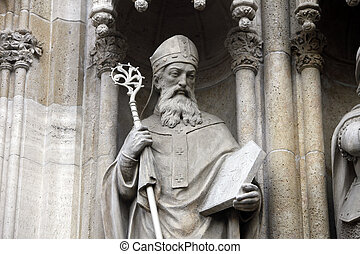 Saint Methodius - Statue of Saint Methodius on the portal of...
