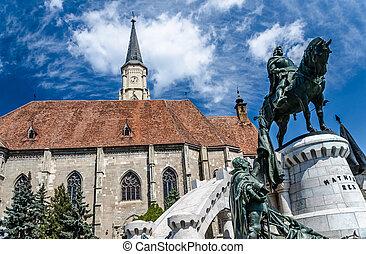 Saint Michael's gothic church and King Mathias - The Church...