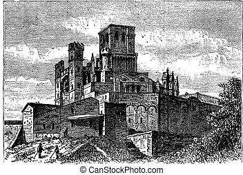 saint-nazaire, vendimia, bezier, francia, catedral, beziers...
