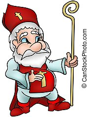 Saint Nicholas - Highly detailed and coloured cartoon...