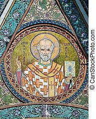 Saint Nicholas icon in the church - patron of seafarers