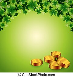 Saint Patrick background with coins