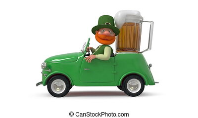 Saint Patrick by car - Christian sacred and the patron of...