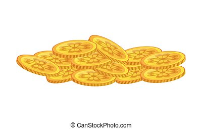 Saint patrick coins isolated vector illustration graphic ...