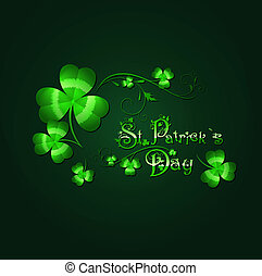 Saint Patrick Day Background With Floral Decorated Greeting ...
