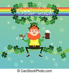 Saint Patrick Day Beer Festival Banner Greeting Card