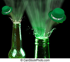 Saint Patrick Day Beer. - Saint Patrick Day green beer.