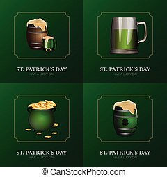 Saint Patrick day graphic designs, Vector illustration