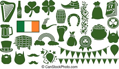 saint patrick day icons