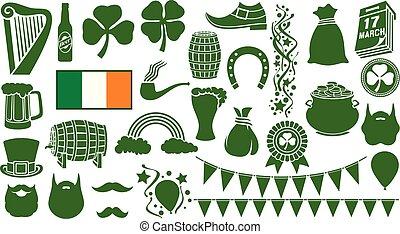 saint patrick day icons
