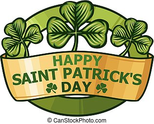 saint patrick day label.eps