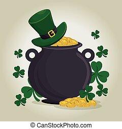 saint patrick day treasure pot