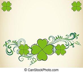 saint patrick dzień, zielony, koniczyna, tło