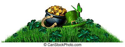 Saint Patrick Green Element Isolated