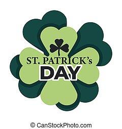 Saint Patrick isolated icon clover Irish traditional holiday
