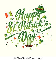 Saint Patrick s day background in green